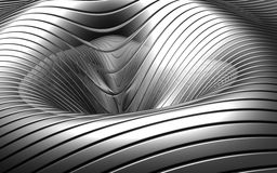 Fundo côncavo de prata abstrato de alumínio Fotografia de Stock