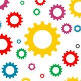 Fundo colorido ícone do sinal das engrenagens Fotos de Stock