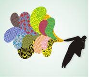 Fundo colorido abstrato ilustração do vetor