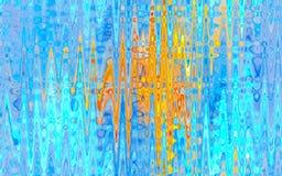 Fundo colorido abstrato azul e amarelo do fractal ilustração stock