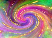 Fundo colorido abstrato bonito Galáxia espiral e brilho Imagem de Stock