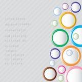 Fundo colorido abstrato com círculos. Fotos de Stock Royalty Free