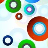 Fundo colorido abstrato com círculos Fotografia de Stock Royalty Free