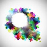 Fundo colorido abstrato com quadro do metal Fotografia de Stock