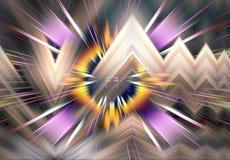 Fundo colorido abstrato da arte gráfica do fractal ilustração do vetor