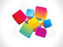 Fundo colorido abstrato da caixa 3d Fotografia de Stock Royalty Free