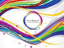 Fundo colorido abstrato da onda com círculo ilustração royalty free