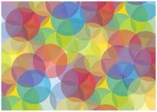 Fundo colorido abstrato das bolhas Imagem de Stock