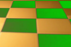 Fundo colorido abstrato de quadrados verdes e dourados Imagens de Stock