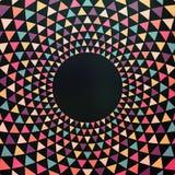 Fundo colorido abstrato do triângulo Imagem de Stock