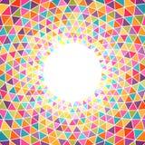 Fundo colorido abstrato do triângulo com lugar para seu índice Fotografia de Stock