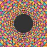 Fundo colorido abstrato do triângulo com lugar para seu índice Imagens de Stock