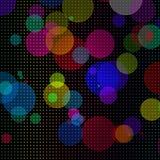 Fundo colorido abstrato dos círculos Fotografia de Stock