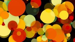 Fundo colorido abstrato dos círculos contexto da animação da rendição 3d ilustração do vetor