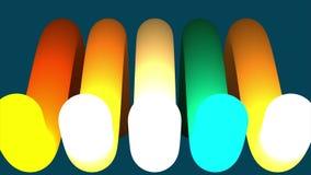 Fundo colorido abstrato dos círculos contexto da animação da rendição 3d Laço sem emenda Animação de bolas coloridas com a video estoque