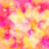 Fundo colorido abstrato dos corações Fotografia de Stock Royalty Free