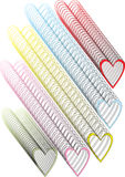 Fundo colorido abstrato dos corações Imagem de Stock