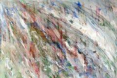 Fundo colorido abstrato Os cursos da pintura pontos coloridos de mistura na lona fotografia de stock