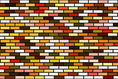 Fundo colorido aleatório do tijolo ilustração stock