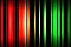 Fundo colorido amarelo e preto verde vermelho do teste padrão de barra fotografia de stock