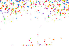Fundo colorido brilhante dos confetes do vetor Imagens de Stock