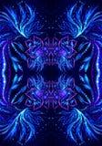 Fundo colorido brilhante gerado por computador da arte finala dos fractals do sumário 3d ilustração royalty free