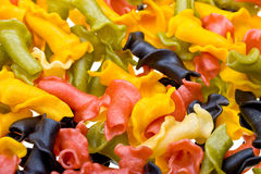 Fundo colorido Close-up da massa Imagens de Stock
