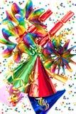 Fundo colorido com artigos do partido Imagem de Stock Royalty Free