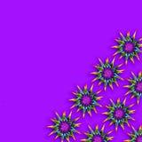 Fundo colorido com as flores espinhosos do arco-íris fotos de stock royalty free