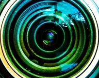 fundo colorido com círculos e brilho cintilando Bonito Imagens de Stock