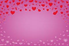 Fundo colorido com corações Foto de Stock Royalty Free