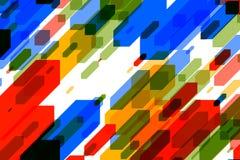 Fundo colorido com efeito cúbico e do fluxo Imagens de Stock Royalty Free