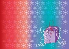 Fundo colorido com flocos de neve Fotografia de Stock Royalty Free