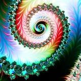 Fundo colorido com teste padrão espiral artwork ilustração royalty free