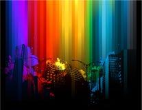 Fundo colorido da cidade Fotos de Stock