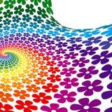 Fundo colorido da espiral da flor ilustração do vetor