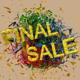 Fundo colorido da explosão da venda final Imagem de Stock