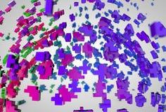 Fundo colorido da explosão dos polygones da esfera abstrata Foto de Stock