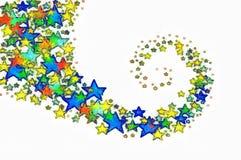 Fundo colorido da imagem das estrelas foto de stock