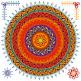 Fundo colorido da mandala do Henna ilustração do vetor