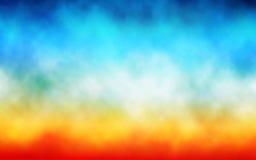 Fundo colorido da nuvem Imagens de Stock Royalty Free