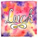 Fundo colorido da palavra da sorte Imagem de Stock Royalty Free