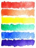Fundo colorido da paleta do arco-íris da aquarela Fotos de Stock Royalty Free