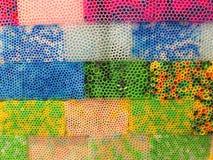Fundo colorido da palha imagens de stock
