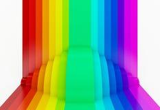 fundo colorido da perspectiva do arco-íris, 3d Fotos de Stock