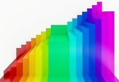 fundo colorido da perspectiva do arco-íris, 3d Imagem de Stock Royalty Free