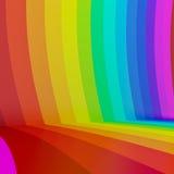 fundo colorido da perspectiva do arco-íris, 3d Fotografia de Stock Royalty Free