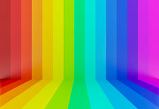 fundo colorido da perspectiva do arco-íris, 3d Imagem de Stock