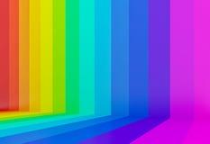 fundo colorido da perspectiva do arco-íris, 3d Fotografia de Stock