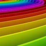 fundo colorido da perspectiva do arco-íris, 3d Fotos de Stock Royalty Free